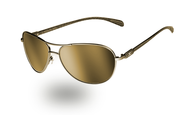 INTAKE GOLD - Carbon Fibre Aviator - ICICLES - The original aluminum sunglass company - 1