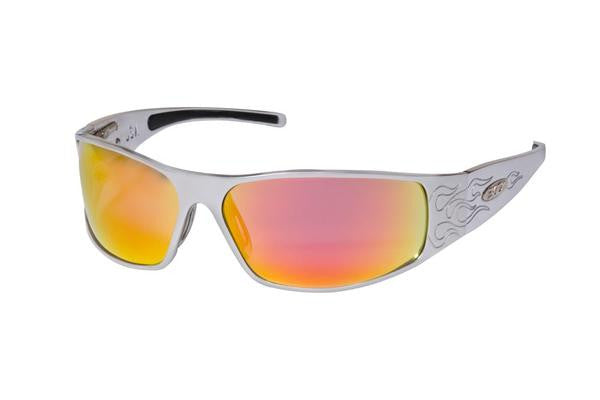 Raven - Silver Flames - ICICLES - The original aluminum sunglass company - 1