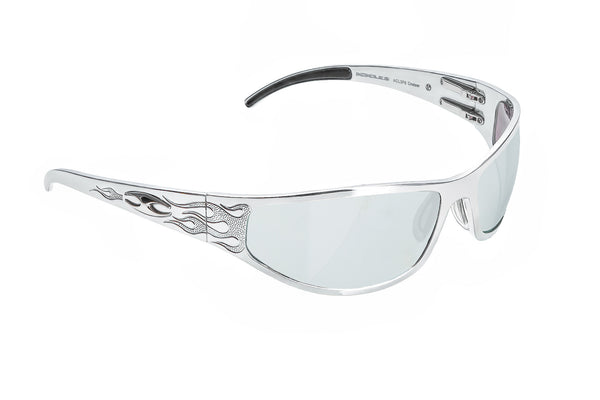Baggers Flames - Silver - ICICLES - The original aluminum sunglass company - 1
