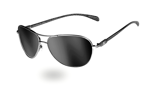 INTAKE GUNMETAL - Carbon Fibre Aviator - ICICLES - The original aluminum sunglass company - 4