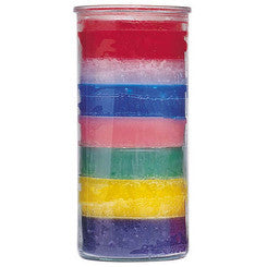 14 Day Colour Glass Candles