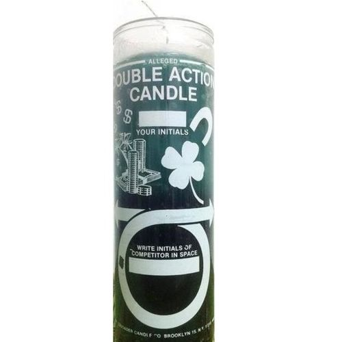 Double Action Money - 7 Day Glass Candle