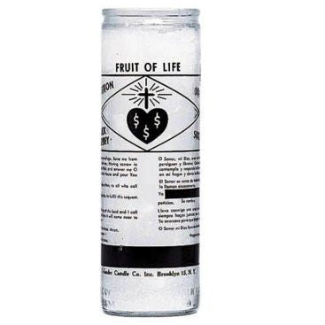 Fruit of Life Glass Candle