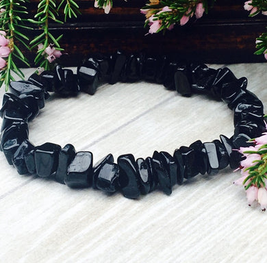 Black Tourmaline Crystal Bracelet