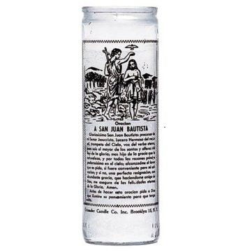 John the Baptist - 7 Day Glass Candle