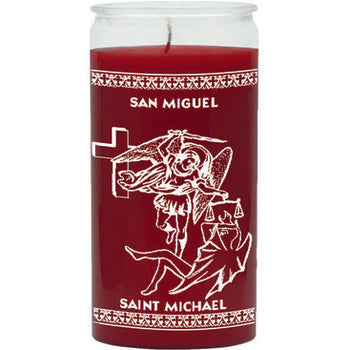 St. Michael 14 Day Glass Prayer Candle