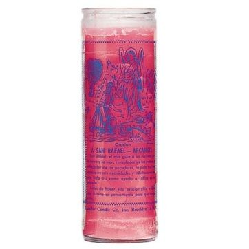 St. Raphael - 7 Day Glass Candle