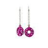 Twisted Torus Earrings Small with Chains