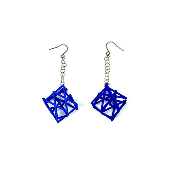 Knight 's Tour Pair Earrings with Chains