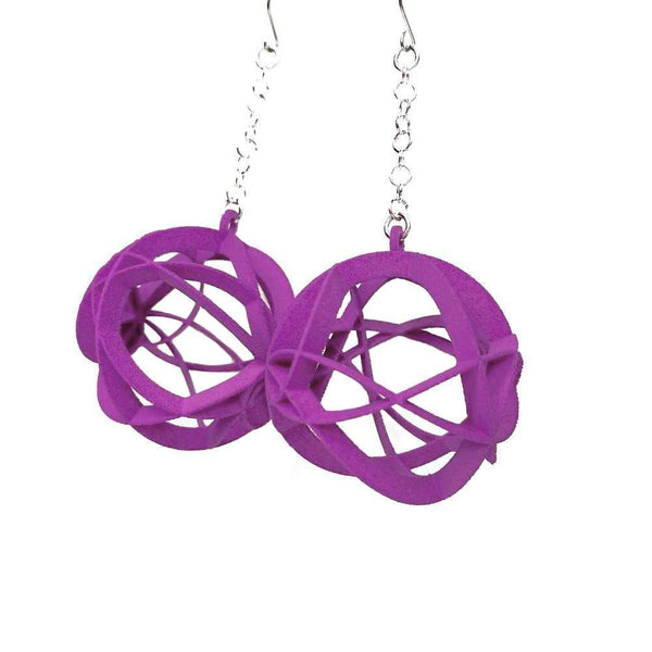 ATOMIC Earrings Large with Chains