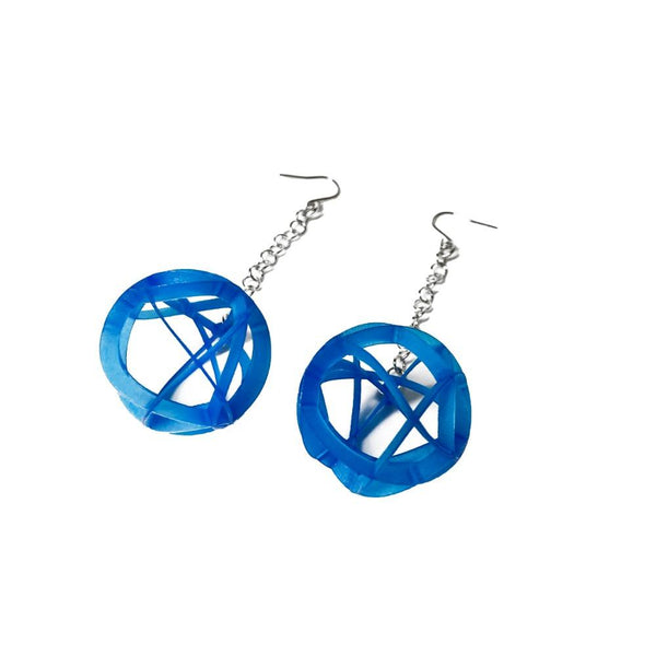 ATOMIC Earrings Small with Chains