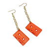 Cassette Earrings with Chains