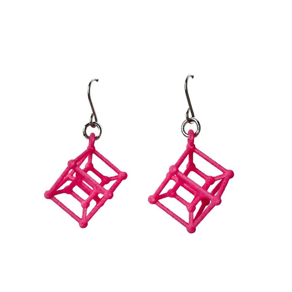 Hyper Cube Earrings without Chains
