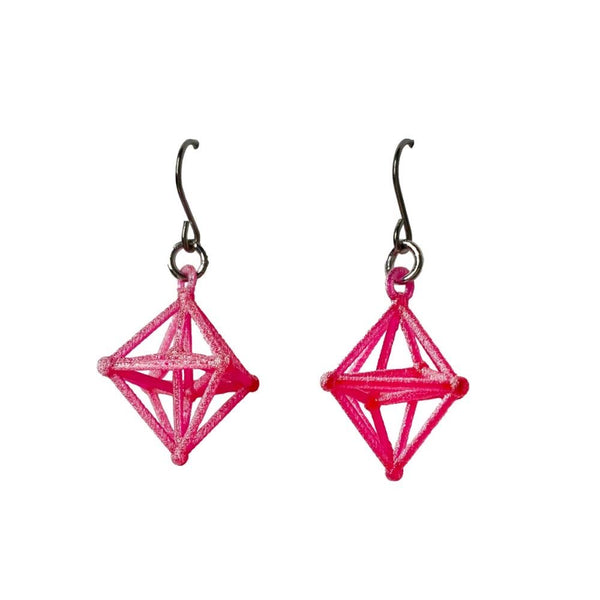 Hyper Octahedron Earrings without Chains