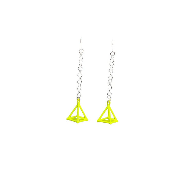 Hyper Simplex Earrings with Chains