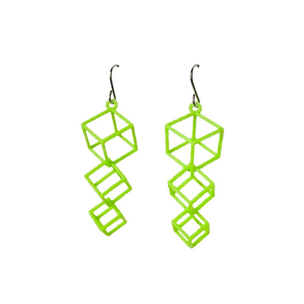 Dangling Cube Earrings