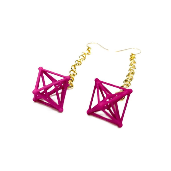 Hyper Octahedron Earrings with Chains