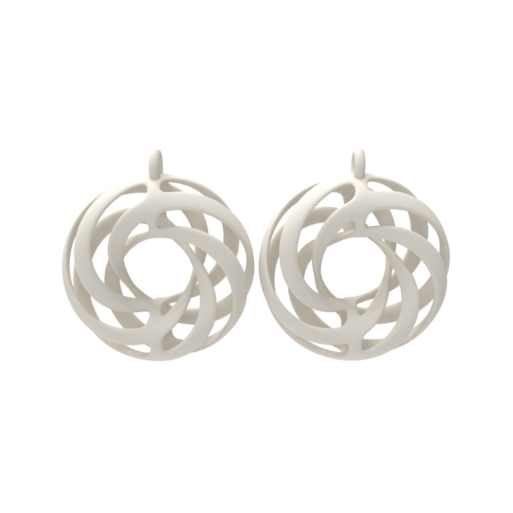 Twisted Torus Earrings Large with Chains
