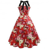 Red beautiful Splicing Halter Slim Dress