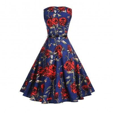 Stylish passionate print Plus size Dress