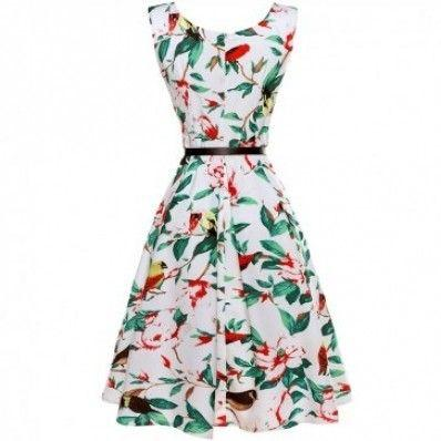 Sleeveless personality pattern printing plus size dress
