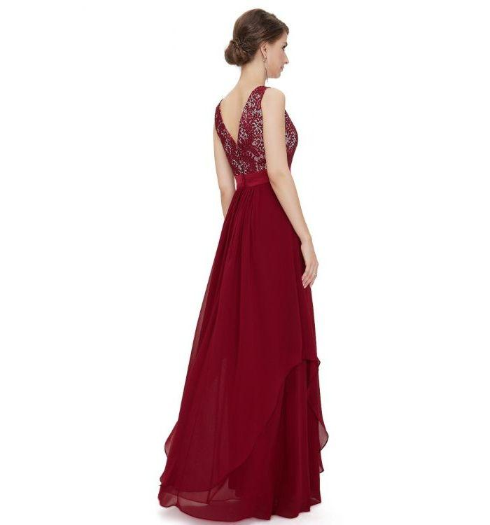 Summer Elegant Long Wine Red Cocktail Dress For Women