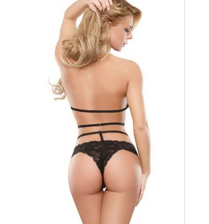 Sexy temptation bundled bow temptation lace three-point teddy lingerie