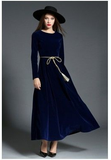 Black Blue Red fashion Evening party banquet dress