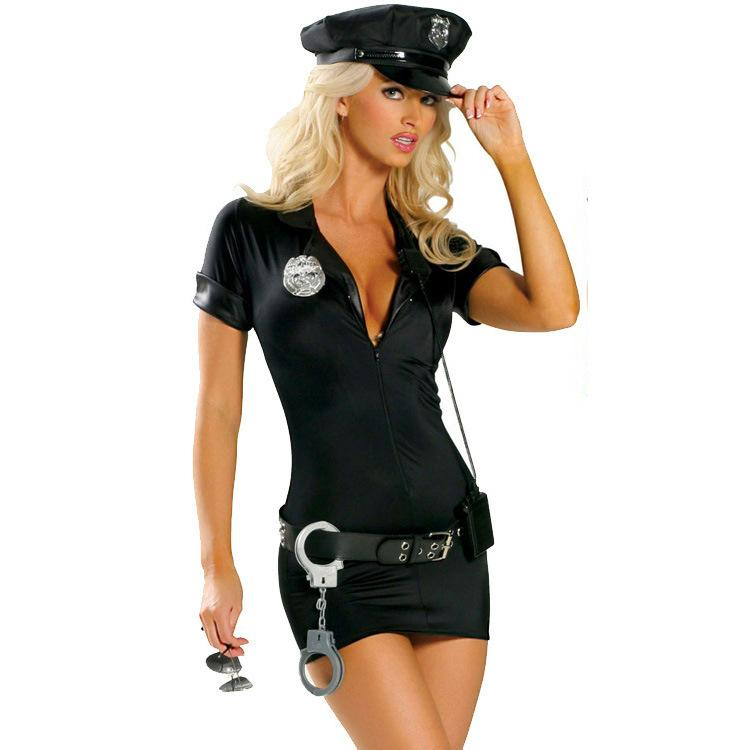 Role playing stage performance sexy police uniform