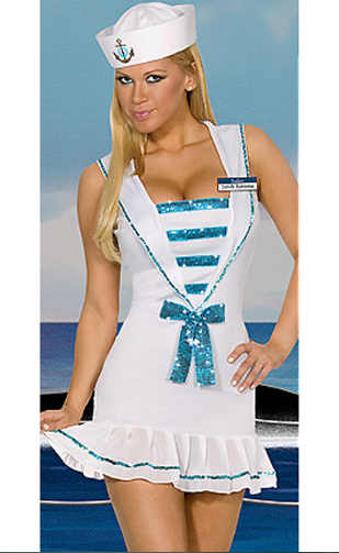 White navy costume role playing female sailor