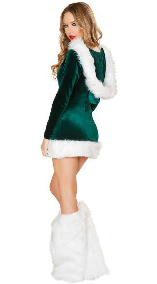 New export beautiful green hooded Christmas costumes