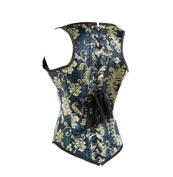 New flower case steel bone embroidery Steel Boned Corsets