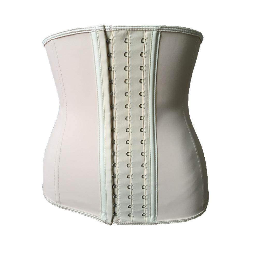 Fashion Black Apricot 3 rows of large buckles sports rubber beam waist latex corset