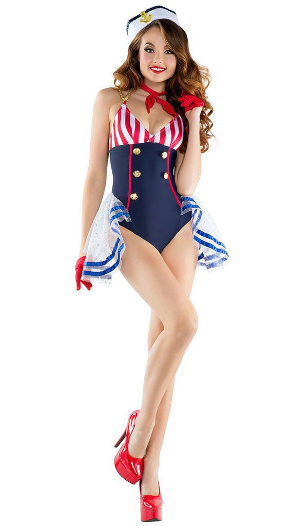 Sexy sailor suit navy costume role playing uniform temptation