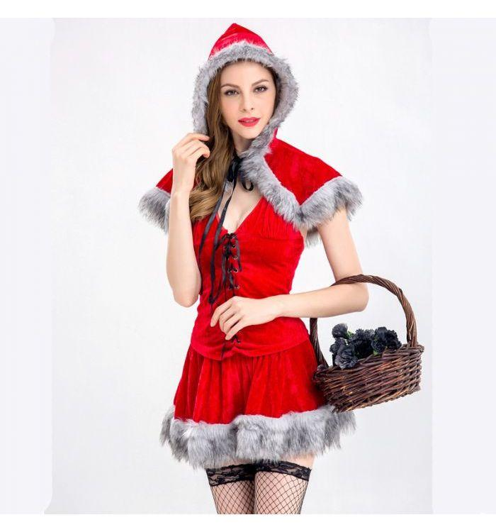 Fashion Little Red Riding Hood Christmas Costume
