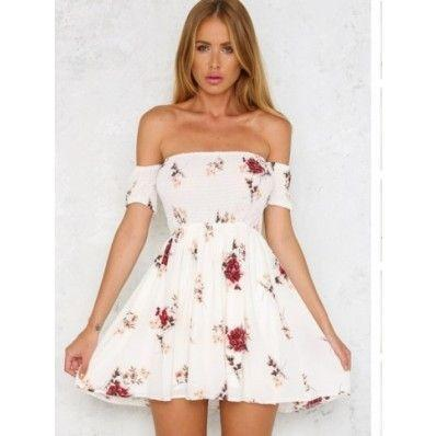 White Red beautiful summer new bra collar plus size dress