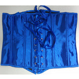 Blue Apricot Fashion Short paragraph solid color satin bone corset