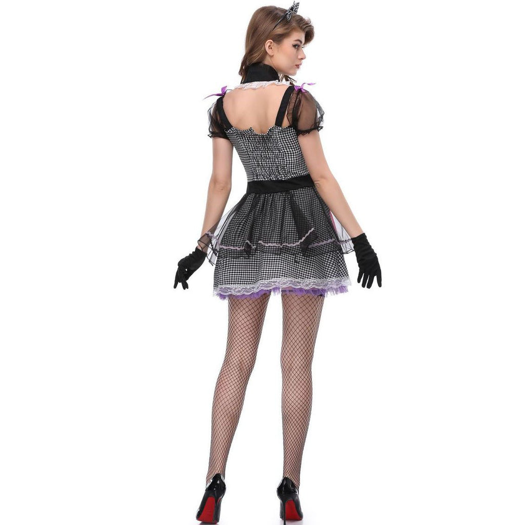 Halloween costume vampire maid plays clothes