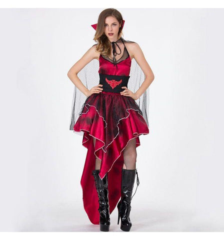 New Dark Red Bat Halloween Party Party Costume Vampire Queen