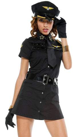 Charming black Policewoman uniforms Temptation