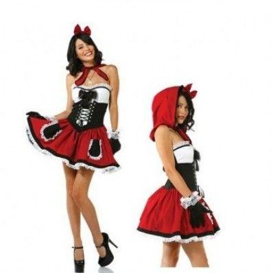 Lovely Little Red Riding Hood fairy tale role-play Halloween Costume