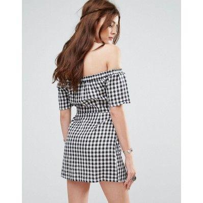 Collar strapless short-sleeved plaid sexy plus size dresses