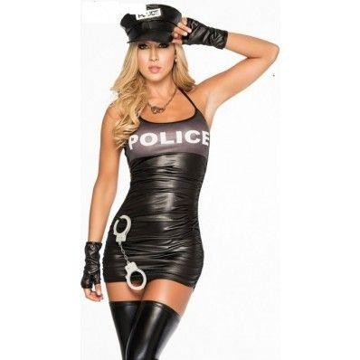 Sexy Bronzing gray and black POLICE Costumes