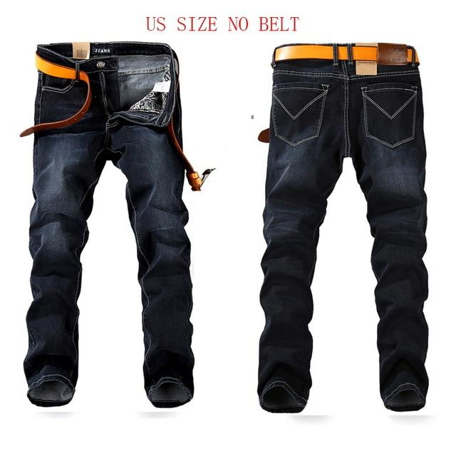 Free shipping Spring Stretch JEANS Plus Big Size 29 - 44 46 48 Straight Denim Men Famous Brand