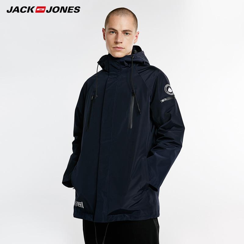 Jack Jones Autumn Winter New Men's Reversible Hooded Cotton Coat Men Parka|