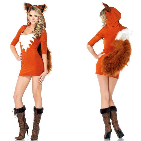 Cosplay Halloween Costume Little Witch Cat Female Animal Role Playing Costume Fox Called
