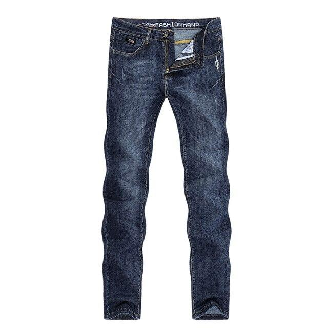 Free shipping KSTUN Men Jeans Slim Straight Blue Stretch Spring and Summer Regular Fit Soft Breathable Quality Brand Men's Clothing Denim Jean