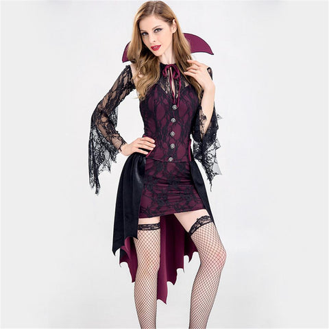 Halloween Costume Sexy Vampire Costume Women  Party Cosplay Gothic Vampire Role Play Clothing Fancy Dress