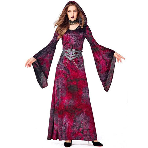 New Women Halloween Carnival Night Cry Witch Halloween Sorcerer Costume Witch Party Red Vampire Party Show Costume