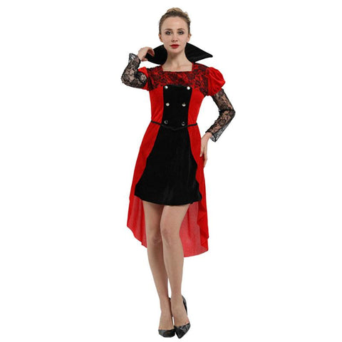 Adult Women's Gothic Maiden Vampire Costume Halloween Carnival Mardi Gras Party Fancy Dress